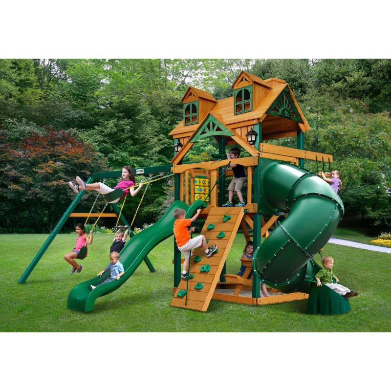 Gorilla Malibu Extreme Cedar Wood Swing Set Kit w/ Timber Shield™ - Amber  (01-0046-TS)