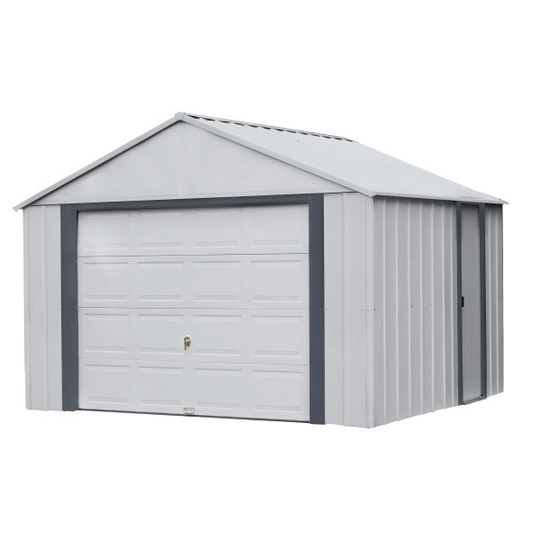 Arrow Vinyl 12x10 Steel Prefab Storage Shed Kit Bgr1210fg