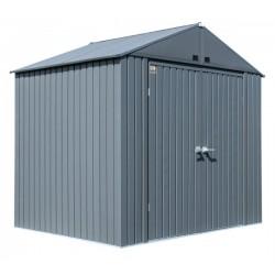 Arrow 8x6 Elite Steel Storage Shed Kit - Anthracite (EG86AN)