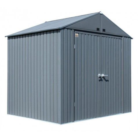 Arrow 8x6 Elite Steel Storage Shed Kit - Anthracite (EG86AN)