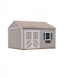 Handy Home Columbia 12x12 Pre-Cut Wood Shed Kit w/ Flexible Door locations (18215-0)
