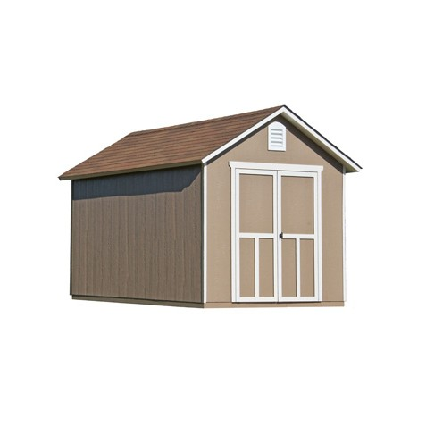 Handy Home Meridian 8x10 Wood Storage Shed Kit w/Floor - Contemporary Style (19348-4)