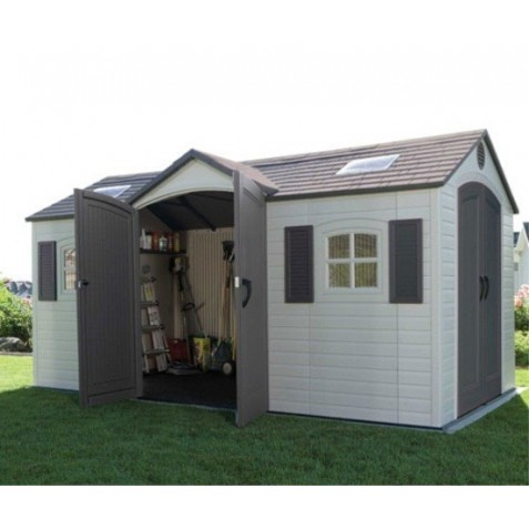 Lifetime 15x8 ft Storage Shed Kit - Dual Entry (60079)