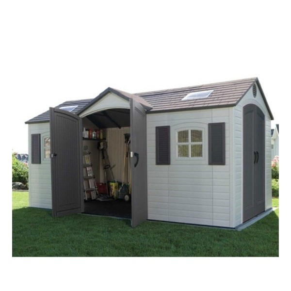 Lifetime 15x8 Ft Storage Shed Kit Dual Entry 60079