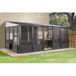 Sojag 10x13 Charleston Solarium Wall Unit Kit - Dark Gray (440-9163025)