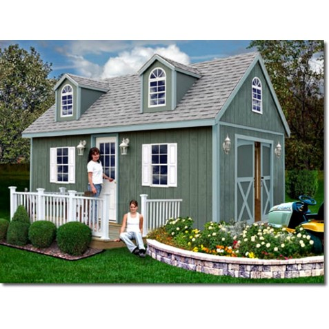 Best Barns Arlington 12x16 Wood Storage Shed Kit (arlington_1216)