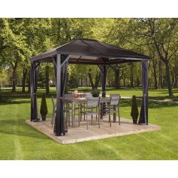 Sojag 10x14 Verona Aluminum Gazebo Kit - Dark Gray (314-9160734)