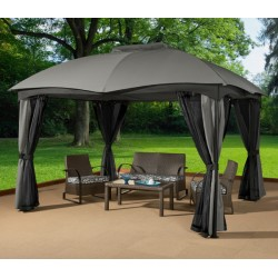 Sojag 10x12 Phuket Steel Gazebo Kit - Gray (302-9165401)
