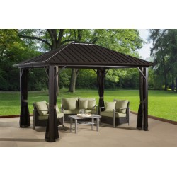 Sojag 10x10 Genova Aluminum Gazebo Kit - Dark Brown (500-9165036)