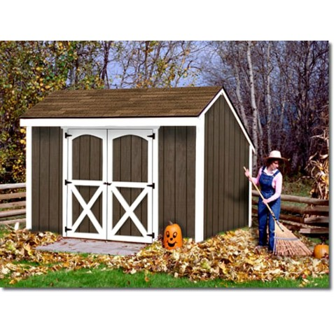 Best Barns Aspen 8x12 Wood Storage Shed Kit (aspen_812)