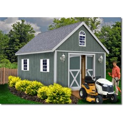 Best Barns Belmont 12x16 Wood Storage Shed Kit (belmont_1216)