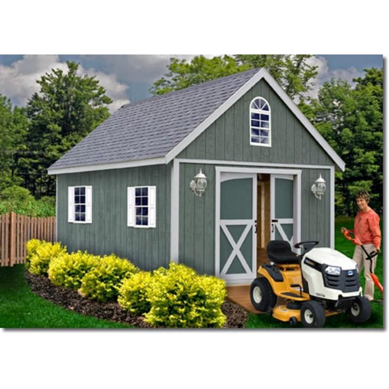 Best Barns Belmont 12x16 Wood Storage Shed Kit (belmont_1216)