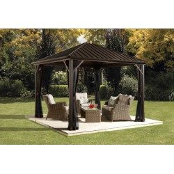 Sojag 8x8 Dakota Aluminum Gazebo Kit - Dark Brown (500-9164992)