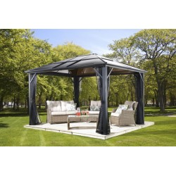 Sojag 10x10 Meridien Aluminum Gazebo Kit - Dark Gray (500-9162929)