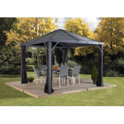 Sojag 8x8 Sanibel Aluminum Gazebo Kit - Gray (500-9162806)