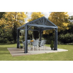 Sojag 8x8 Sanibel I Aluminum Gazebo Kit - Gray (500-9162820)