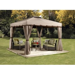 Sojag 10x10 Roma Steel Gazebo Kit - Beige and Brown (500-9165388)