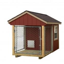 EZ-Fit 4x7 Wood Dog Kennel (ez_kennel47)