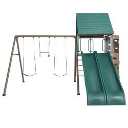 Lifetime Big Stuff Adventure Metal Swing Set - Brown and Green (90797)