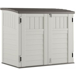Suncast Horizontal Resin Storage Shed Kit - Vanilla (BMS2500)