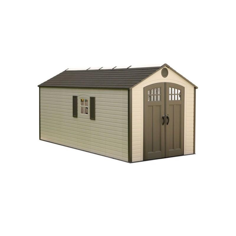 Lifetime 8x17.5 Ft Outdoor Storage Shed Kit w/ 2 Windows (60121)