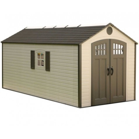 Lifetime 8x17.5 Ft Outdoor Storage Shed Kit w/ 2 Windows (60121)