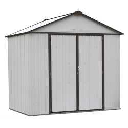 Arrow 8x7 Ezee Storage Shed Kit - High Gable, 72 In Walls, Vents - Cream & Charcoal (EZ8772HVCRCC)