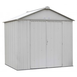 Arrow 8x7 Ezee Storage Shed Kit - High Gable, 72 In Walls, Vents - Cream (EZ8772HVCR)