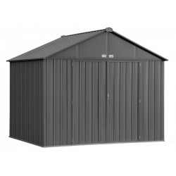 Arrow 10x8 Ezee Storage Shed Kit - Extra High Gable, 72 in Walls, Vents, Charcoal - (EZ10872HVCC)