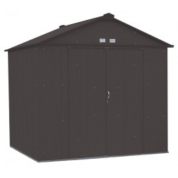 Arrow 8x7 Ezee Storage Shed Kit - High Gable, 72 In Walls, Vents - Charcoal (EZ8772HVCC)