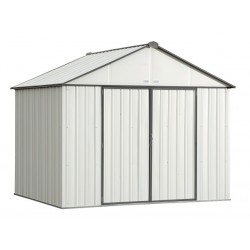 Arrow 10x8 Ezee Storage Shed Kit - Extra High Gable, 72 in Walls, Vents - Cream & Charcoal (EZ10872HVCRCC)
