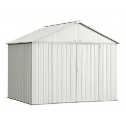 Arrow 10x8 Ezee Storage Shed Kit - Extra High Gable, 72 in Walls, Vent - Cream (EZ10872HVCR)