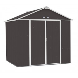 Arrow 8x7 Ezee Storage Shed Kit - High Gable, 72 In Walls, Vents - Charcoal & Cream (EZ8772HVCCCR)