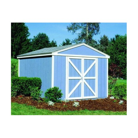 Handy Home Somerset 10x12 Wood Storage Shed with Flexible Door Locations - Floor Kit Included (18504-5)