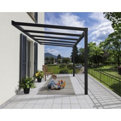 Palram Stockholm 11x12 Patio Cover Kit - Gray Clear (HG9451)
