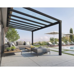 Palram Stockholm 11x17 Patio Cover Kit - Gray Clear (HG9455)