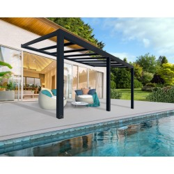 Palram Stockholm 11x19 Patio Cover Kit - Gray Clear (HG9459)