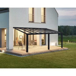 Palram Stockholm 11x22 Patio Cover Kit - Gray Clear (HG9461)