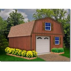 Best Barns West Virginia 16x28 Wood Storage Shed Kit (westvirginia_1628)