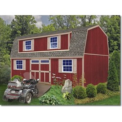 Best Barns Ravenna 16x32 Wood Storage Shed Kit (ravenna_1632)