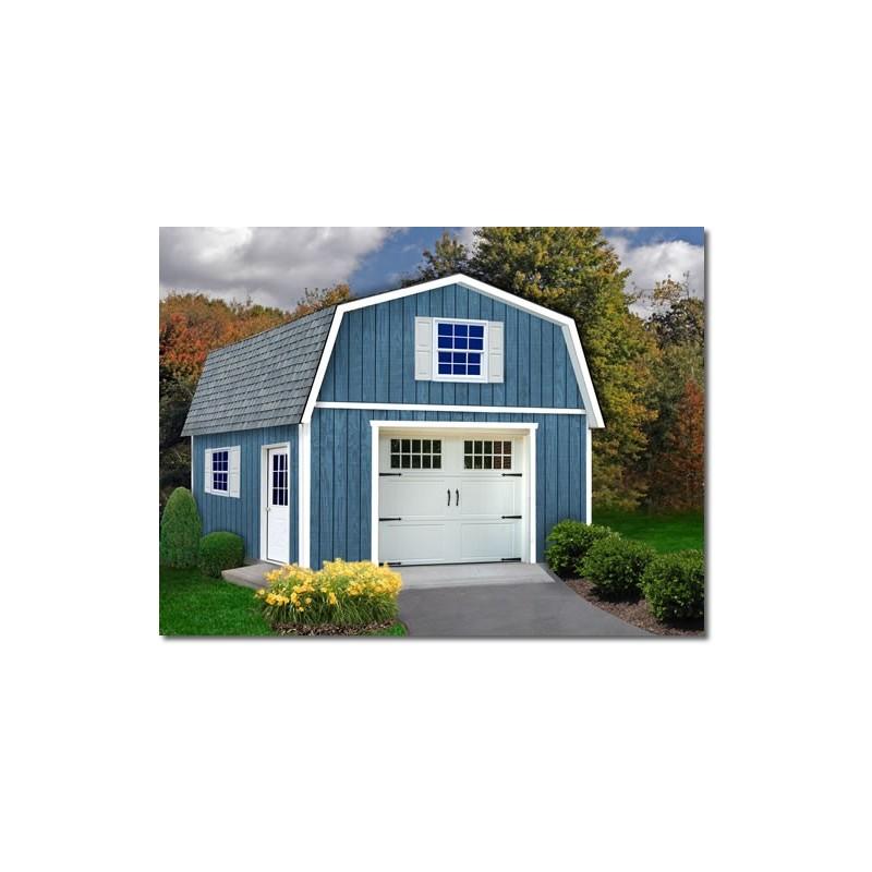Best Barns Jefferson 16x20 Wood Garage Kit (jefferson_1620)