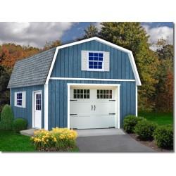 Best Barns Jefferson 16x28 Wood Garage Kit (jefferson_1628)