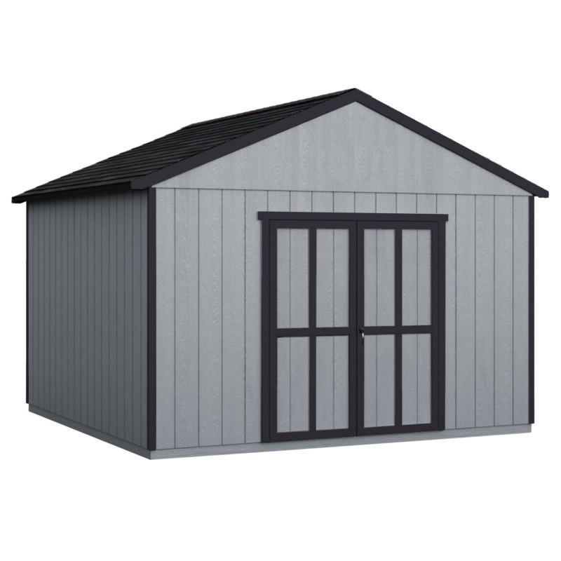 Handy Home 12x16 Astoria Wood Storage Shed Kit w/ Floor (19418-4)
