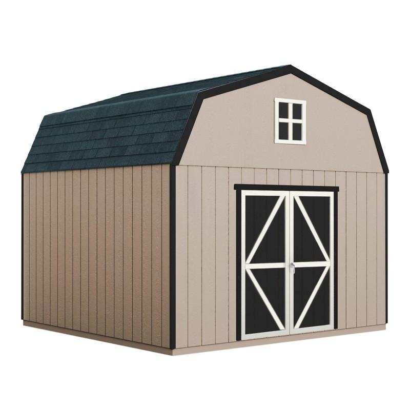 Handy Home 12x16 Hudson Wood Storage Shed Kit w/ Floor (19444-3)