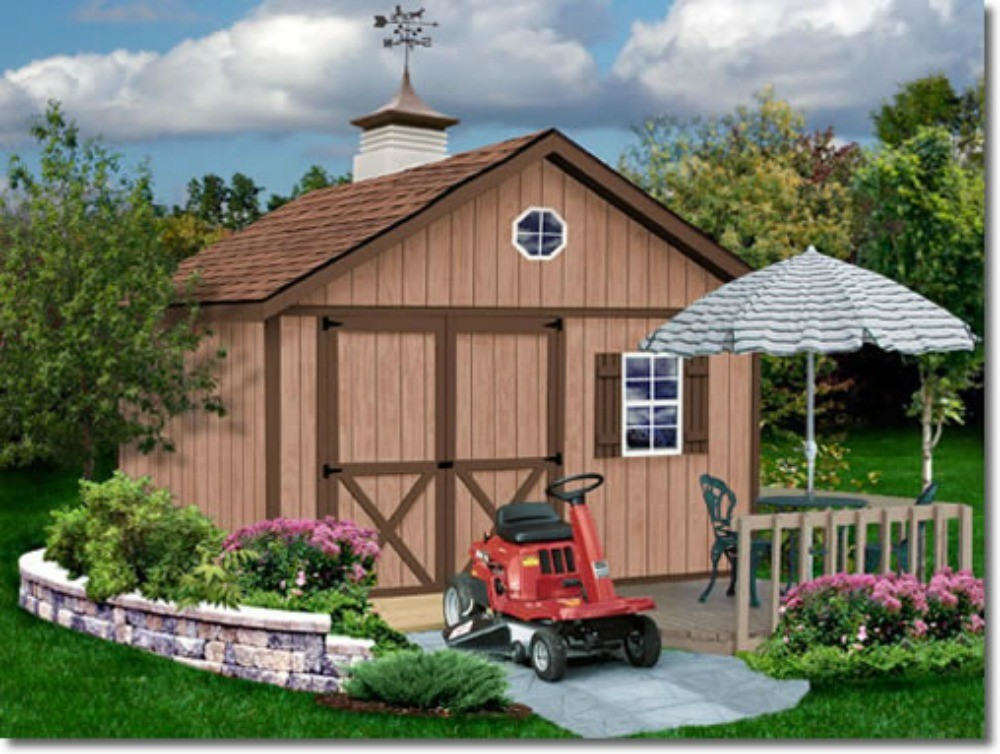 brandon 12x16 wood storage shed kit all pre cut brandon 1216