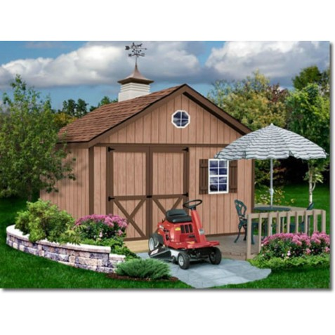 Brandon 12x20 Wood Storage Shed Kit - ALL Pre-Cut (brandon_1220)