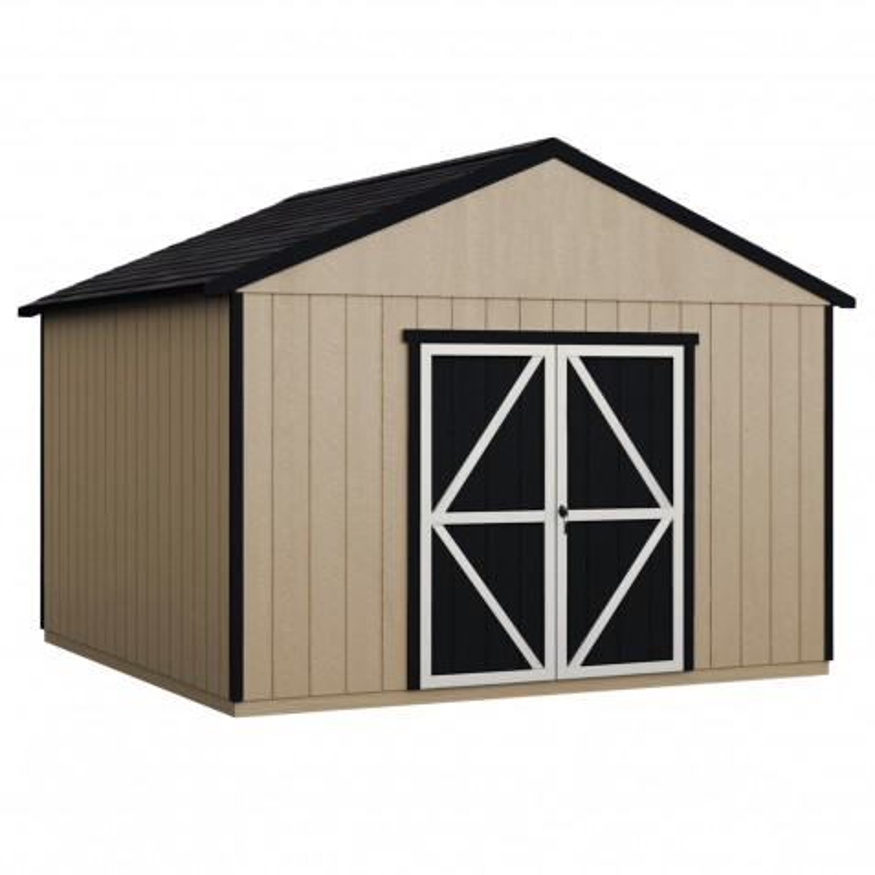 Handy Home 12x24 Astoria Wood Storage Shed Kit w/ Floor (19423-8)