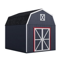 Handy Home 10x10 Braymore Wood Storage Shed Kit (19449-8)