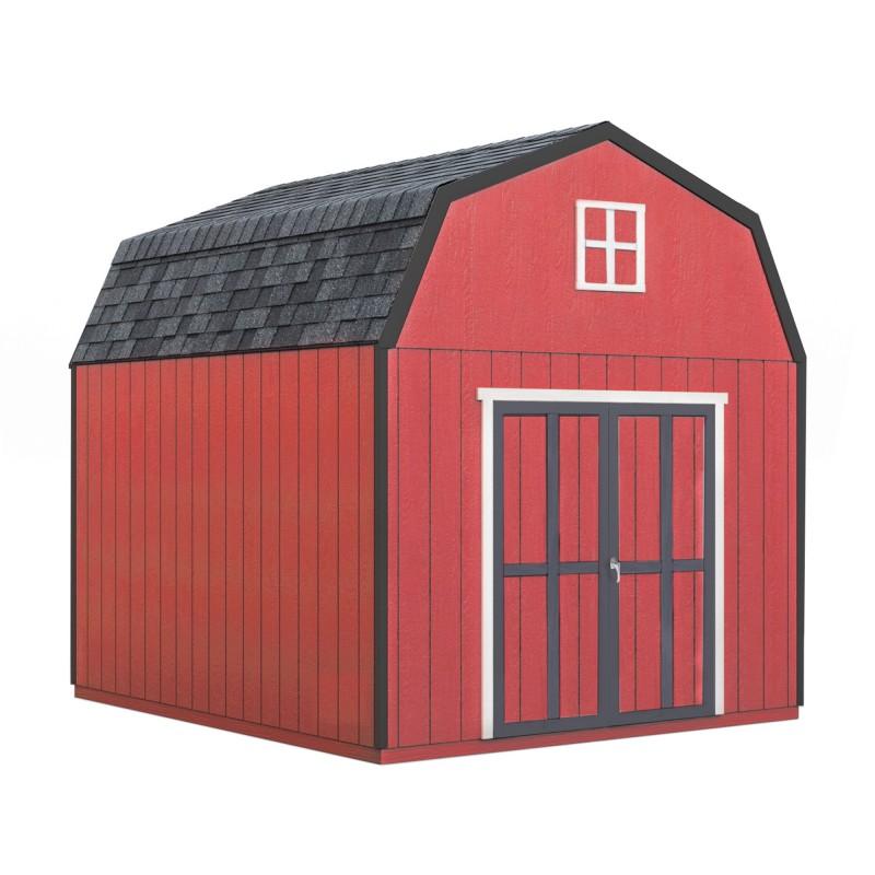 Handy Home 10x18 Braymore Wood Storage Shed Kit w/ Floor (19466-5)