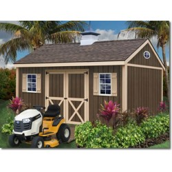 Best Barns Brookfield 16x12 Wood Storage Shed Kit (brookfield_1612)